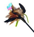 GiGwi Дразнилка д/кошек с бабочкой с натуральными некрашеными перьями 1*100/75242