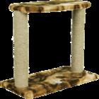 Зооник/Когтеточка на подставке с лежанкой двойная  22314