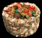 Sultan/Султан Зерновая круглая корзиночка с фруктами