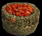 Sultan/Султан Травяная круглая корзиночка с морковью