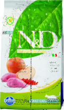 Farmina N&D Cat Boar & Apple Adult 10 кг./Фармина сухой беззерновой корм для кошек кабан с яблоком