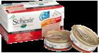 Schesir 50гр.*6 гр./Шезир консервы для кошек набор тунец с креветками