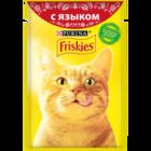 Friskies 85 гр./Фрискис консервы в фольге для кошек с языком