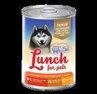 Lunch for pets Premium 400 гр./Консервы для собак Баранина с потрошками в желе