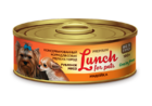 Lunch for pets  100 гр./Консервы для собак рубленное мясо с индейкой