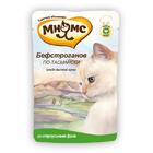 Мнямс 85 гр./Консервы для кошек Сочное страусиное филе