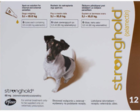 Stronghold 60 мг./Стронгхолд Противопаразитарные капли для собак от 5,1 до 10 кг 3 пипетки