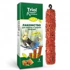 TRIOL/ Лакомство д/мелк и средн попугаев с мёдом(уп. 3 шт), 80 гр./50161003/