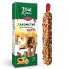 TRIOL /Лакомство для грызунов Ассорти  (с фруктами, овощами и орехами) (уп. 3 шт), 75 гр./40161018/