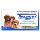 Празител Плюс/Таблетки для собак и щенков средних и крупных пород 6 таб.