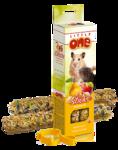 Little One 2*55 гр./Литл Ван Палочки д/хомяков, мышей и песчанок с фруктами и орехами