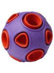 HOMEPET SILVER SERIES Ф 7,5 см игрушка для собак мяч двухцветный фиолетово-красный каучук (78979)