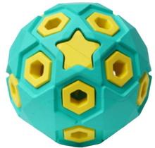 HOMEPET SILVER SERIES Ф 8 см игрушка для собак мяч звездное небо бирюзово-желтый каучук (78986)