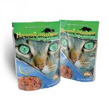 Ночной охотник 100 гр./Консервы для кошек Телятина и Индейка кусочки в желе