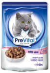 PreVital 100 гр./Превитал консервы для кошек телятина в соусе