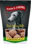 JOHN'S FARMS Duck Rice Balls//лакомства шарики из утки и риса для собак 80 г