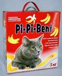 Pi-Pi-Bent Bananas 5 кг./Наполнитель комкующийся для кошек с ароматом банана коробка