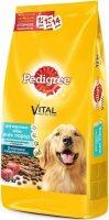 Pedigree 13 кг./Педигри сухой корм  для взрослых собак всех пород, с говядиной