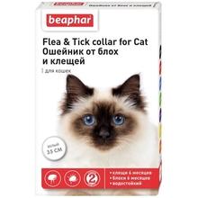 Beaphar Flea&Tick  35 см./Беафар ошейник для кошек белый от блох и клещей