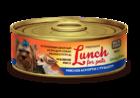 Lunch for pets  100 гр./Консервы для собак рубленное мясо мясное ассорти с рубцом