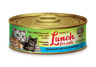 Lunch for pets 100 гр./Консервы для кошек Рубленое мясо Мясное ассорти с языком