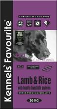 Kennels` Favourite Lamb and Rice 20 кг./Сухой корм для взрослых собак предрасположенных к аллергии с ягненком и рисом