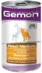 Gemon Dog Medium 1250 гр./Гемон Консервы для собак курица с индейкой