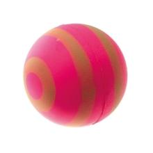 V.I.Pet/Мяч розовый с зелёными полосами, неон 47 мм/ 20-1111