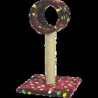 Зооник/Когтеточка  на подставке, цв.мех, сизаль, с трубой  2236С