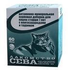 СЕВА 60 таб./Витаминно-минеральная кормовая добавка для кошек старше 7 лет с олигосахаридами и таурином