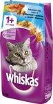 Whiskas 1,9 кг./Вискас сухой корм для кошек Вкусные подушечки с паштетом Морское ассорти с лососем, тунцом и креветками