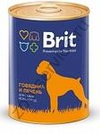 Brit Premium 850 гр./Брит  консервы для активных собак Говядина и печень