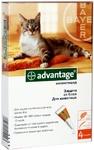 Advantage//капли для кошек от блох до 4кг 4 *0,4 мл