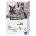 Advantage//капли для кошек от блох более 4кг 4 *0,8 мл