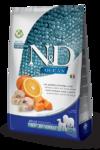 Farmina N&D Dog GF Pumpkin Codfish & Orange Adult Medium & Maxi 2,5 кг./Фармина Треска, тыква, апельсин. Полнорационное питание для собак