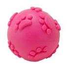 HOMEPET/ Игрушка для собак мяч с рисунком лапки с пищалкой 6 см.