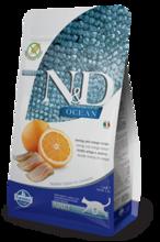 Farmina N&D Cat Fish & Orange Adult 300 гр./Фармина сухой беззерновой  корм для кошек с рыбой и апельсином