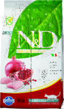 Farmina N&D Cat Chicken & Pomegranate Adult 300 гр./Фармина сухой беззерновой корм для кошек  курица с гранатом