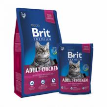 Brit Premium  Cat Adult Chicken 1,5 кг./Брит Премиум сухой корм для кошек с мясом курицы и куриной печенью