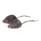 TRIOL Игрушка для кошек Мышь серая 1шт(уп.24шт)/M002G/22161003
