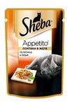Sheba Appetito 85 гр./Шеба Аппетито консервы для кошек телятина/язык желе