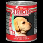 Зоогурман BIG DOG 850 гр./Консервы Биг Дог для щенков говядина