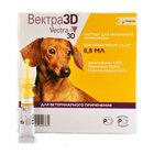Вектра 3D Dog 0,8 мл ./Капли для лечения и профилактики заболеваний, вызванных эктопаразитами (клещи, блохи, комары) 1,5-4 кг