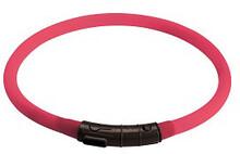 Hunter /Светящийся шнурок на шею LED 20-70 см диаметр 1 см розовый