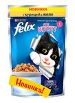 Felix 85 гр./Феликс консервы в фольге для киттен курица желе