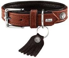 Ошейник Hunter для собак Cody 45 (33-39 см)/2,8 кожа бизона коньячный/темно коричневый/65252