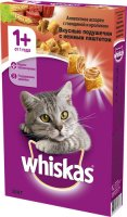 Whiskas 350 гр./Вискас сухой корм для кошек Говядина/Кролик под паштетом