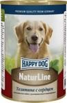 Happy Dog 400 гр./Хеппи Дог консервы для собак телятина с сердцем