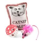 Triol/Игрушка  Набор игрушек для кошек мяч.мыш.подушка/XW7001