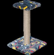 Зооник/Когтеточка  на подставке, цвет.мех, с полочкой  2232